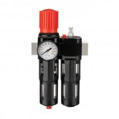 Блок подготовки воздуха 1/2', 5мкм, 1800л/мин, металл, профессиональный
