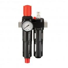 Блок подготовки воздуха 1/4', 5мкм, 850 л/мин, металл, профессиональный