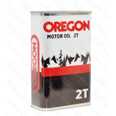 Масло для 2-х тактных двигателей OREGON 2T 1л, ж/б прямоугольная / полусинтетика