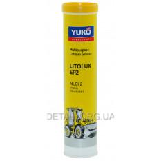 Смазка литиевая YUKO LITOLUX EP2 (NLGI 2) 0,4 л картуш