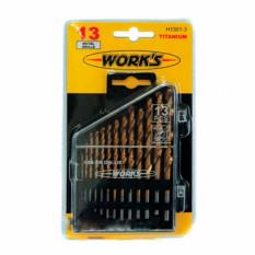 Набор сверел WORK's H1301-3 TIN 13 шт по металлу HSS TIN (1.5-6.5)х0.5+3.2+4.8 мм