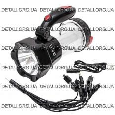 Фонарь аккумуляторный солнечная панель + кабель для зарядки телефона INTERTOOL LB-0111