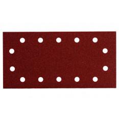 10 шліфувальних аркушів на липучках Розміри: 115 х 230 мм (по 2х P 40, P 80, P120, P 180 та P 240) з