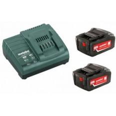 Базовий комплект 2 x 4,0 А-год 2 акумуляторні блоки 4,0 А-год 1 x зарядний пристрій ASC 30 – 36 В