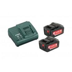 Базовий комплект 2 x 5,2 А-год 2 акумуляторні блоки 5,2 А-год 1 x зарядний пристрій ASC 30 – 36 В
