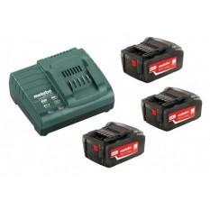 Базовий комплект 3 x 4,0 А-год 3 x акумулятори 4,0 A-год. 1 x зарядний пристрій ASC 30 – 36 В