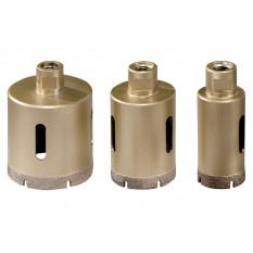 Комплект алмазних свердлильних коронок для плитки «Dry», 3 шт., (1 х ? 35 mm, 50 mm, 68 mm