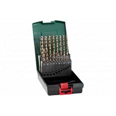 Набір свердл HSS-Co, DIN 338, 19 шт., діам. 1-10 мм Касета зі свердлами