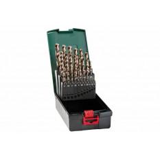 Набір свердл HSS-Co, DIN 338, 25 шт., діам. 1-13 мм Касета зі свердлами
