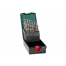 Набір свердл HSS-G, 19 шт., діам. 1-10 мм Касета зі свердлами