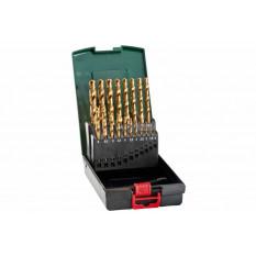 Набір свердл HSS-TiN, DIN 338, 19 шт., діам. 1-10 мм Касета зі свердлами