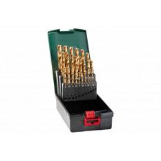 Набір свердл HSS-TiN, DIN 338, 25 шт., діам. 1-13 мм Касета зі свердлами