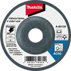 Гибкий шлифовальный круг по металлу 100 мм Makita (B-18231)