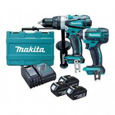 Набор инструментов Makit DLX 2145 X1 (DDF458 + DTD152)