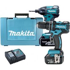 Набор инструментов Makita DLX2002 (DHP480Z, DTD129, BL1830x2, DC18RC)