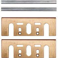Набор строгальных мини ножей HM 82 мм з пластиной Makita (4 шт.)