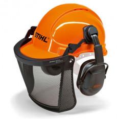 Защитный шлем с сеткой и наушниками Stihl Economy оригинал 00008851400
