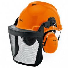 Защитный шлем с сеткой и наушниками Stihl Special оригинал 00008842401