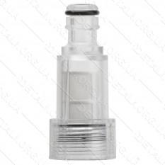 Фильтр сетчатый грубой очистки с коннектором 1/2 к мойкам высокого давления Intertool