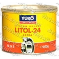 Смазка YUKO Литол-24 0,4кг банка 0,5л жесть