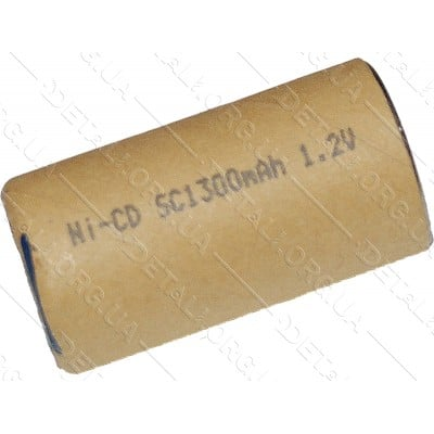 банка Ni-CD 1300 mAh 1.2V для аккумулятора шуруповерта d22 h43