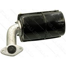 Глушитель мотоблока 190N (12Hp) (круглый, крепления на 2 болта, без колена)
