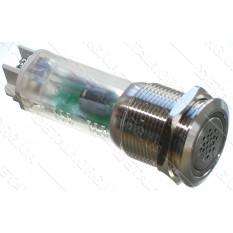 зуммер антивандальный d22mm резьба 19mm h56mm 2 контакта под винт индикация
