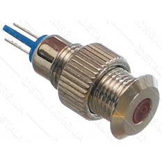 индикатор антивандальный d11mm резьба 8mm h21mm 2 контакта