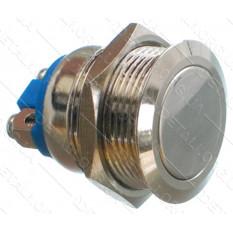 кнопка антивандальная d22mm резьба 19mm h21mm 2 контакта под винт