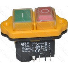 Кнопка бетономешалки желтая 5 контактов