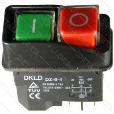 Кнопка бетономешалки черная 4 контакта