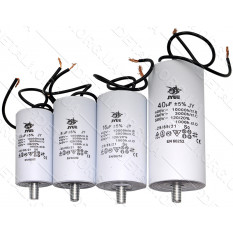 конденсатор JYUL 60мкф - 450 VAC болт + провода (45*93 mm)
