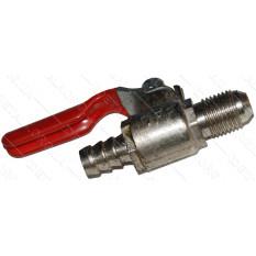 """кран компрессора 1/4"""" хром (12мм/8мм) (50 грамм)"""