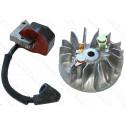 Магнето + катушка зажигания бензопила Makita DCS34 36140020 оригинал