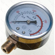 манометр компрессора вертикальный резьба 14мм металл