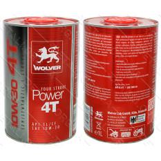 Масло для 4-х тактных двигателей WOLVER FOUR STROKE POWER 4T SAE 10W-30 канистра 1л жесть