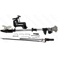 Насадка на мотокосу подвесной лодочный руль с винтом, 9T, D-26mm MANLE