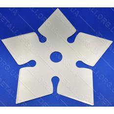 Нож - диск для мотокосы 5-ти лучевой 5T пикообразный d25,2*235