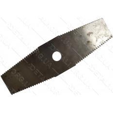 """Нож триммера 2-T зубчатый нержавейка  (12""""х3,5""""х2мм)"""