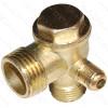 обратный клапан компрессора (D резьбы 10мм*16мм*21мм) (60 грамм)