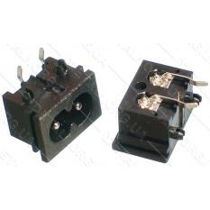 "разъем (штекер) сетевой 2 контакта под провод ""восьмерка"""