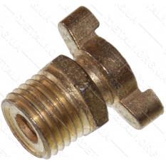 Сливная пробка конденсата для компрессора 1/4 (13мм) 1-й класс 19 грамм