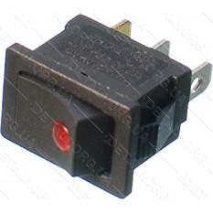 тумблер 2 положения 3 контакта 15*21 mm светодиод 6A