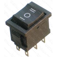 тумблер 3 положения 6 контактов 15*21 mm 6A