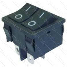 тумблер двойной 2 положения 4 контакта 21*25 mm 8A