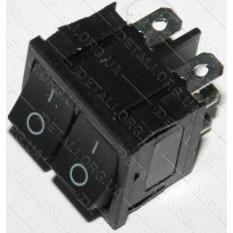 тумблер двойной 2 положения 6 контактов 21*25 mm 6A