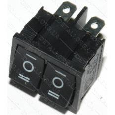тумблер двойной 3 положения 6 контактов 21*25 mm 6A