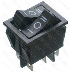 тумблер двойной 3 положения 6 контактов 25*31 mm 16A