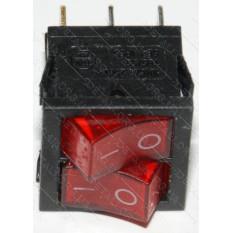 тумблер двойной с подсветкой 2 положения 6 контактов 21*24 mm 6A