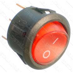 тумблер круглый 2 положения 3 контакта с подсветкой d23 mm